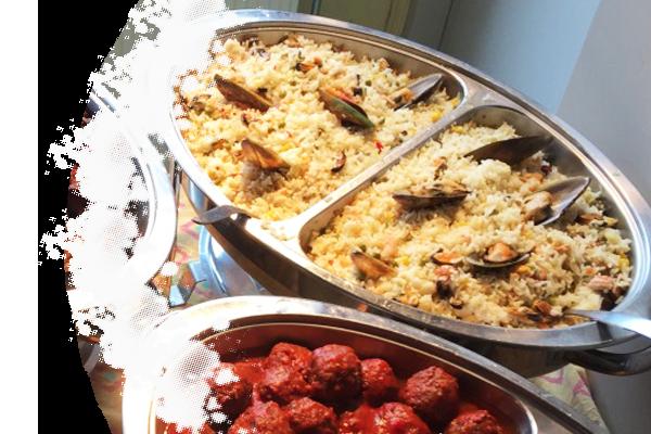 Paella met kip of vis